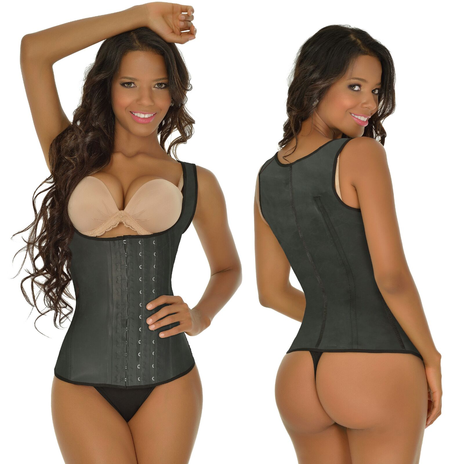 f8a302d2af5 2027D 3 Hooks Ann Michell Latex Vest - Catherines Fashion